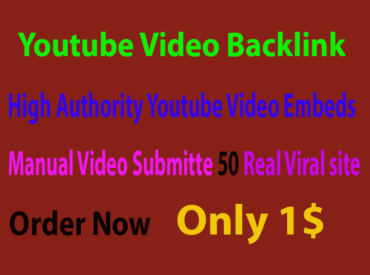 CPA Marketing Youtube Video Backlink 50 Real Site Sub...