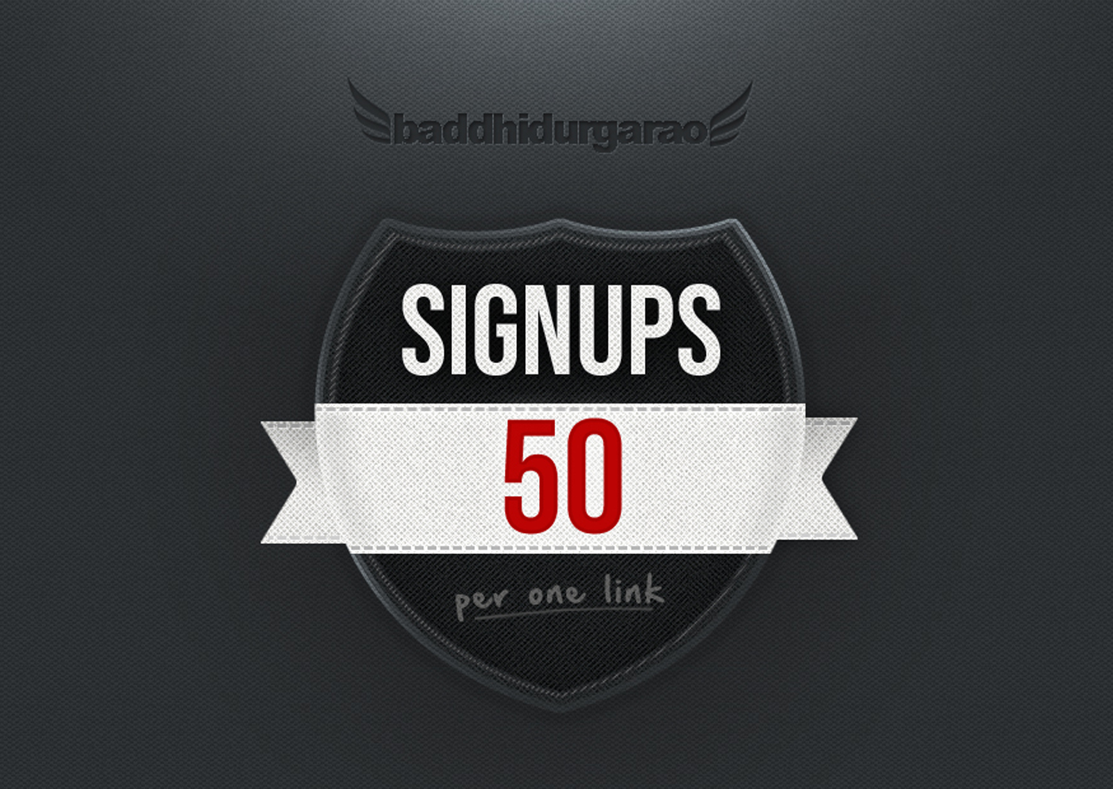 Get 50 Website Signups with Email Confirm