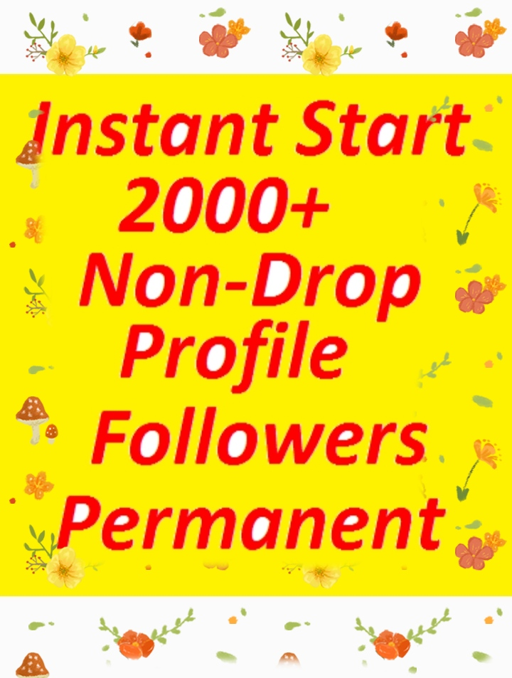 2000 social media high quality profile followers fast delivery
