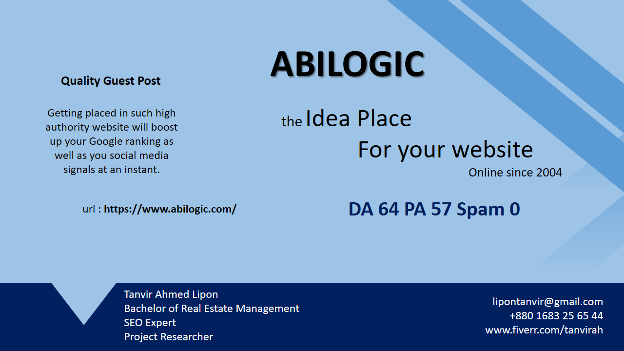 write and guest post on abilogic. com with dofollow