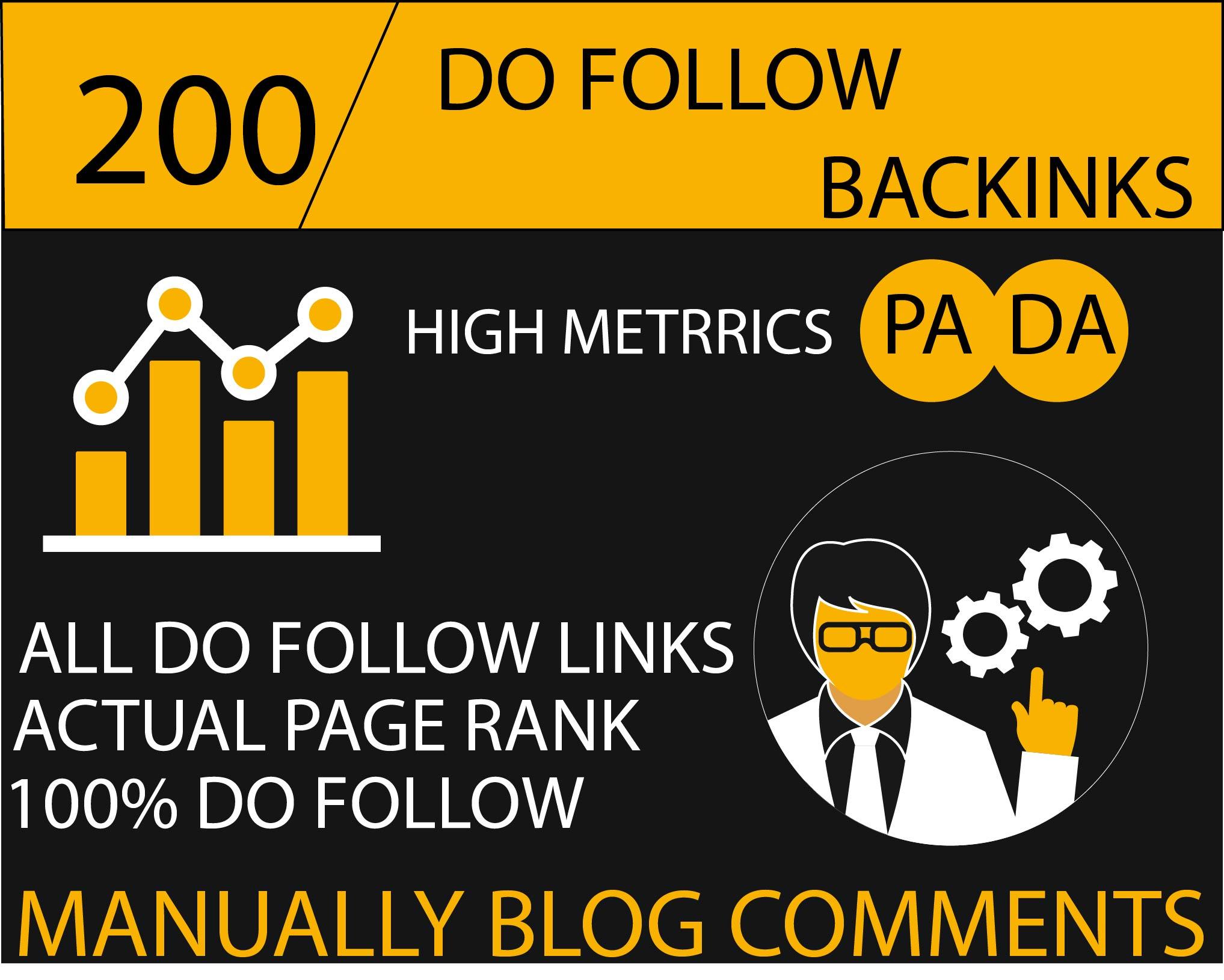 Do 200 High Da Pa Blog Comment Links