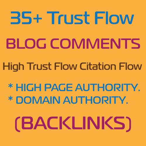 Do 35 Trust Flow Blog Comments Backlinks