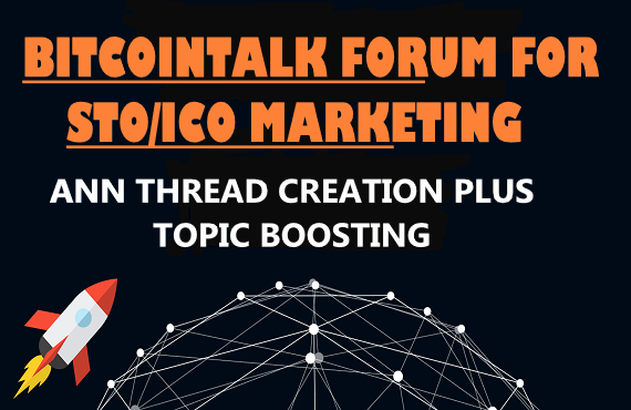 STO OR ICO MARKETING CAMPAIGN IN BITCOINTALK FORUM BY...