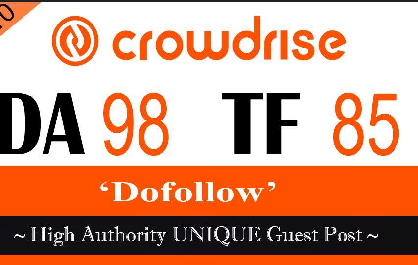 "Publish A Guest Post On "" Crowdrise"" DA-81"