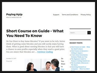 paying hyip Sponsored Blog Review
