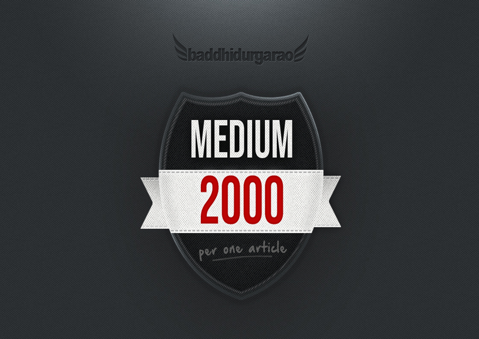 Get 2000 Medium Claps to Your Article