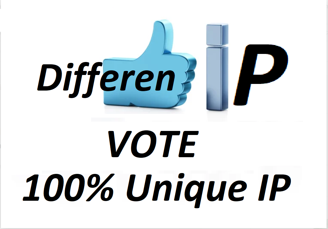 Offer 300 Different IP votes contest that you are participating