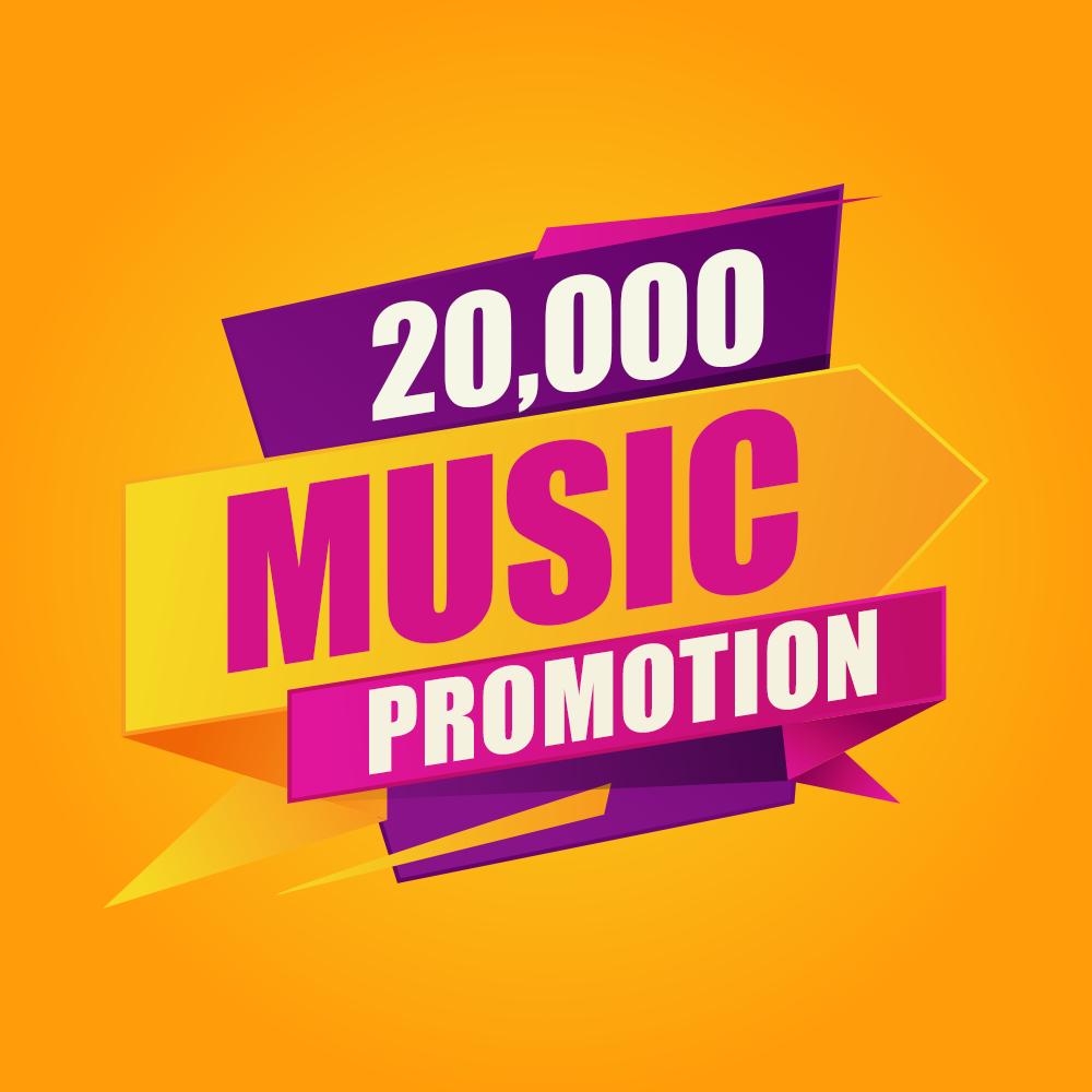 Twenty Thousand High Quality Organic Music Promotion