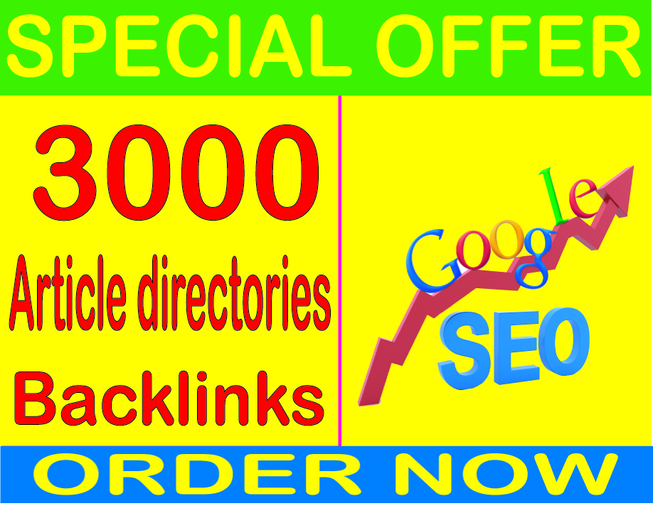 Best  SEO Service-2019- I will do 3000 Article directories PR9 Safe SEO High Pr Backlinks 2019 Best Results