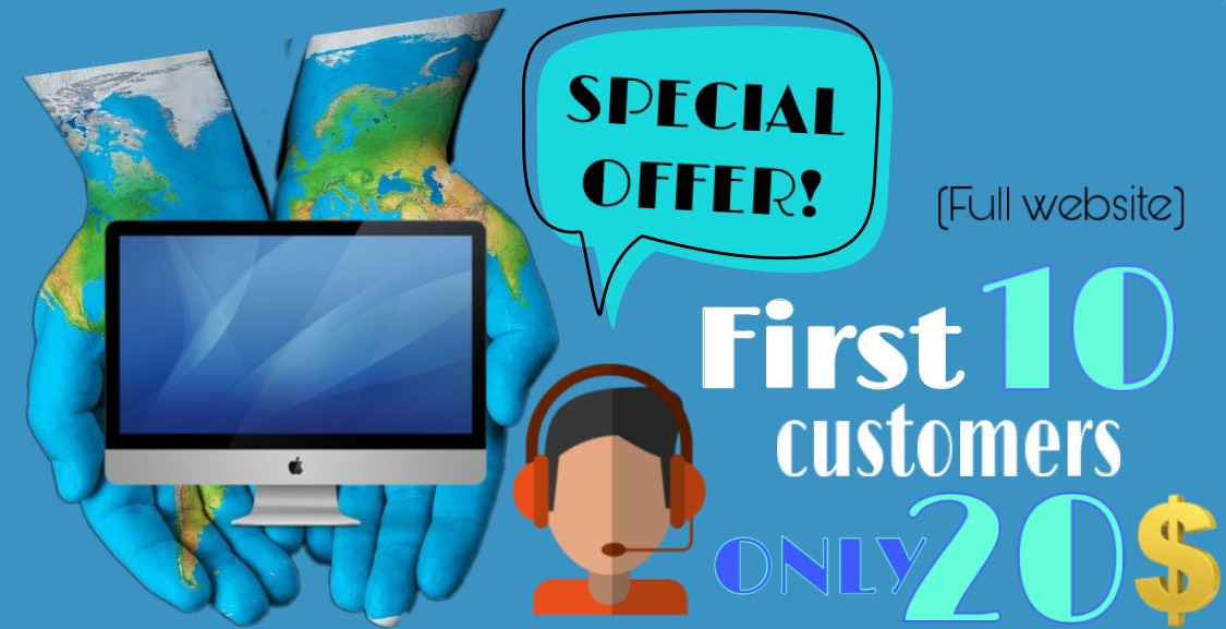 SPECIAL OFFER Make professional website with responsi...