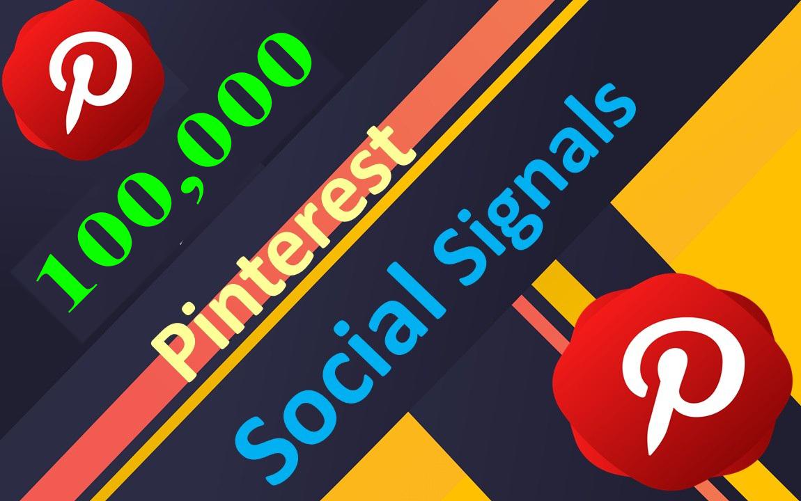 Limited Time Offer 100,000 Real SEO Social Signals PR9 Pinterest Share No1 Social Media Bookmark
