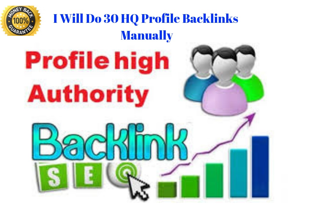 submit 30 HQ Profile Backlinks Manually with high aut...