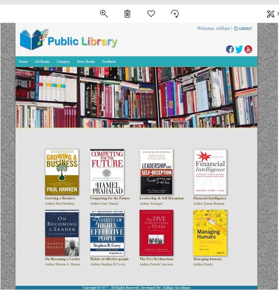 Digital Library Web Application