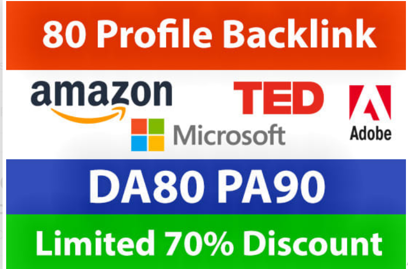 Create 80 Profile Backlinks From Amazon