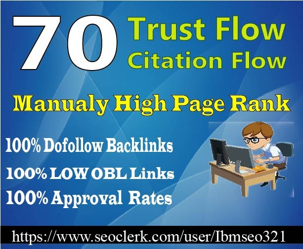 Do 70 High Trust Flow Citation Flow Dofollow Backlink...