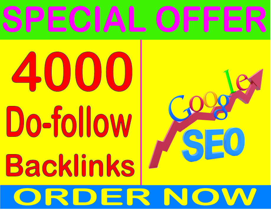 Boost SEO- Create 4000 Do follow High PR Metrics Backlinks