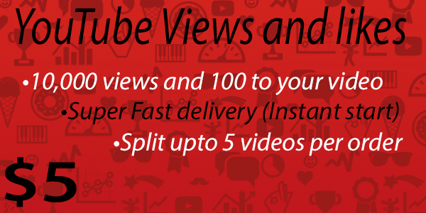 10000 views and 100 likes to your YouTube video [Instant Start]