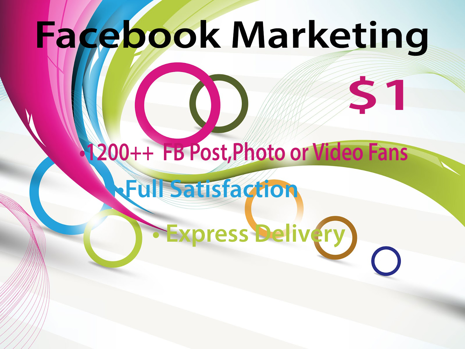 Facebook Marketing and Promotion with Guaranteed Res... for $1