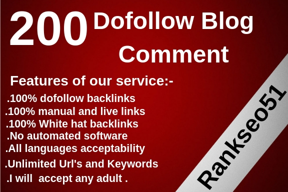 Submit 200 High Quality Dofollow Blog Comments