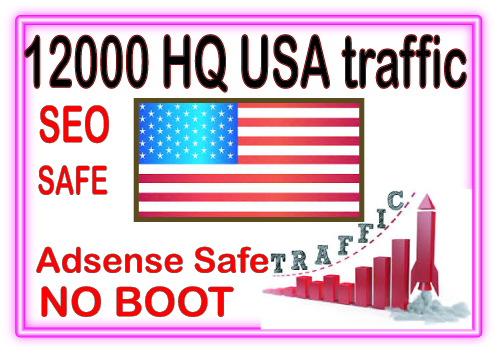 Get 12000 USA web traffic from social & organic web traffic from main search engines