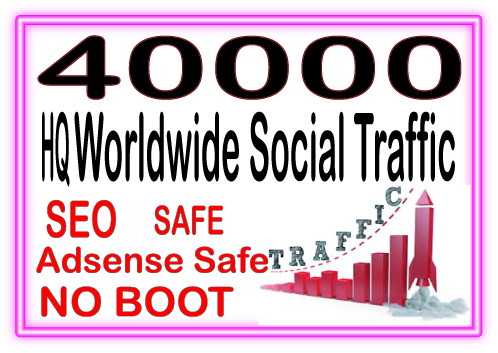 40000 World wide organic web traffic for from main search engines & social site