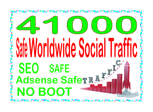 Get 41000 Human of web traffic from social & organic web traffic