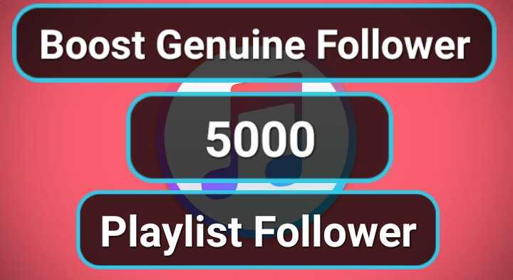 1000 Genuine profile Playlist Music Artist followers