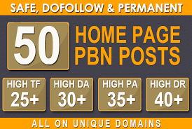 Do 50 Homepage Dofollow Pbn High Quality Seo Backlinks