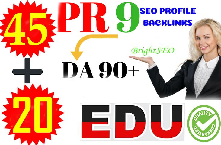 Top 65+ PR10 SEO Backlinks DA80+ With .EDU .Gov Links Boost Your Google Rank