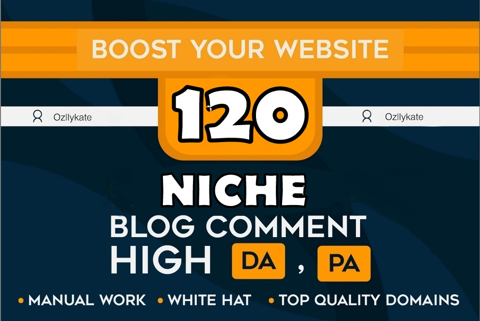 DO 120 Manual Niche Relevant Blog Comments