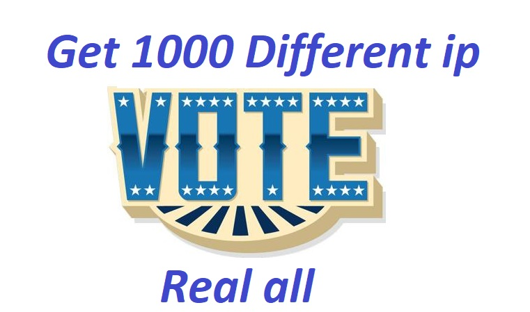 Get offer you 1000 ip votes on your online poll voting contest