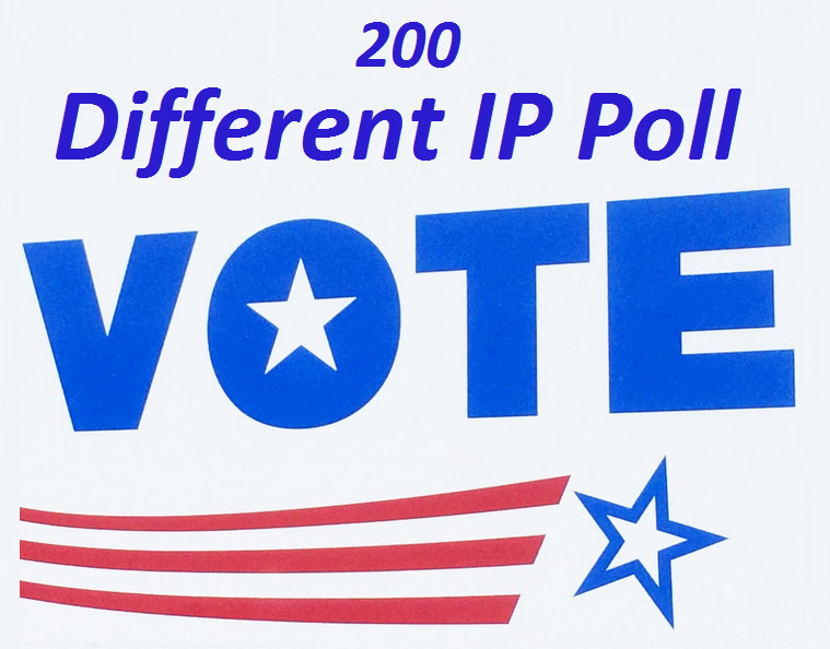 Provide you get real 200 genuine IP votes poll by real people
