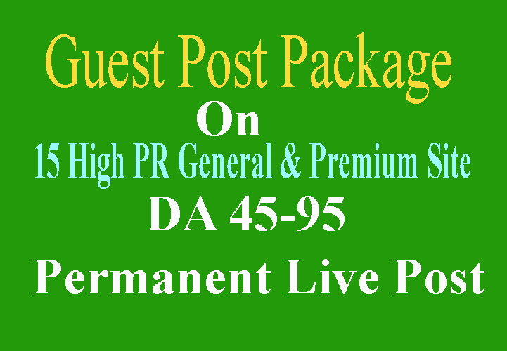 Write & Publish 15 Affordable Guest Post DA 45 To 95 Limited Offer