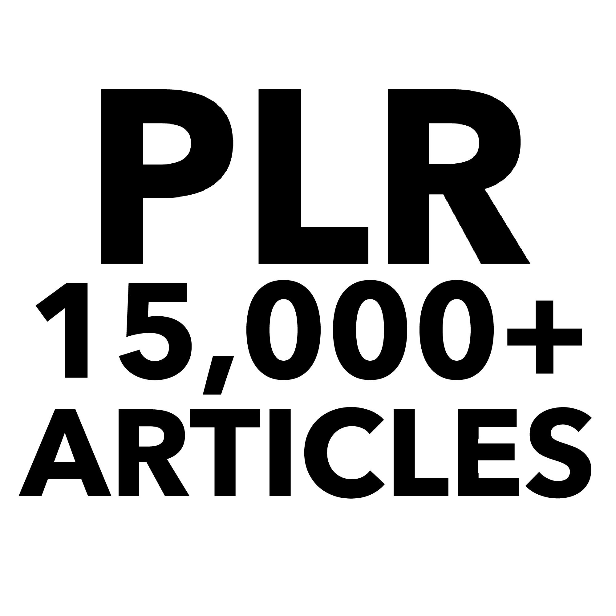 15000+ Private Label Rights articles / Fast and Cheap.
