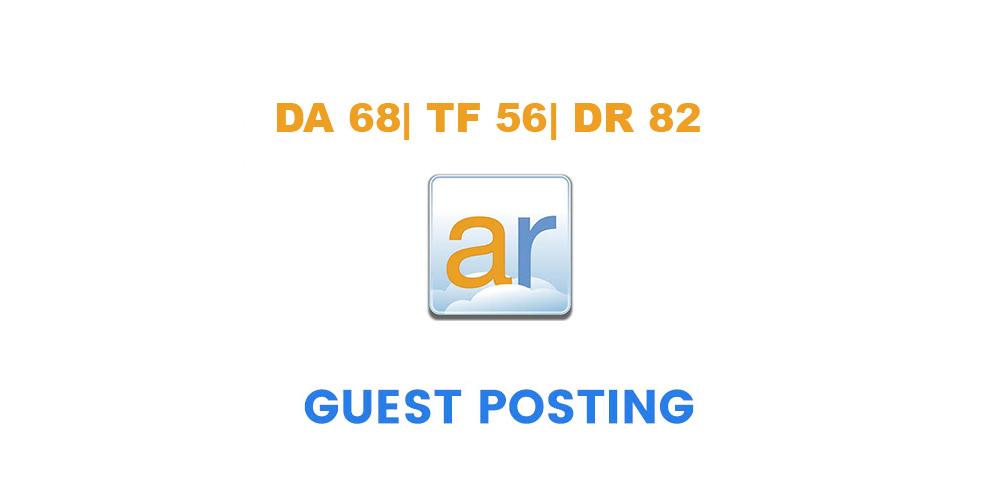 Write & guest post onHome improvement site ActiveRain. com - DA68,  TF56,  DR82