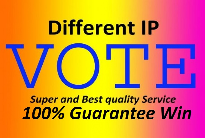 Provide 200 Different IP votes for your online voting contest