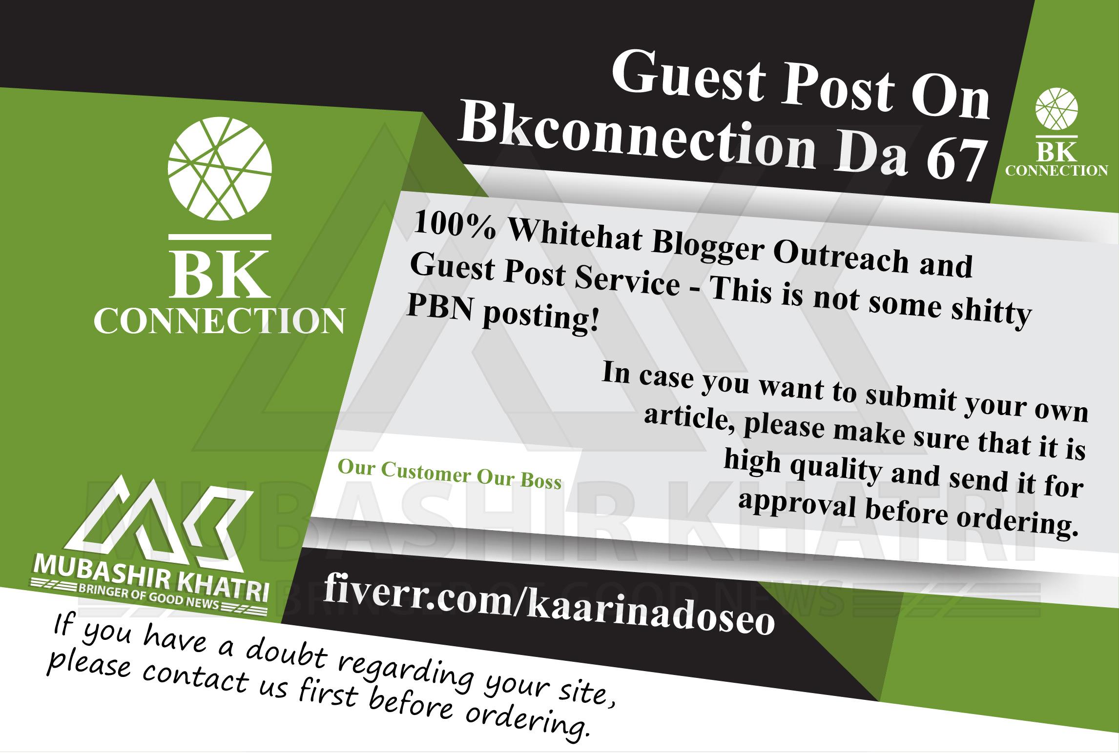 Provide Guest Post On Bkconnection. com Bkconnection DA 67