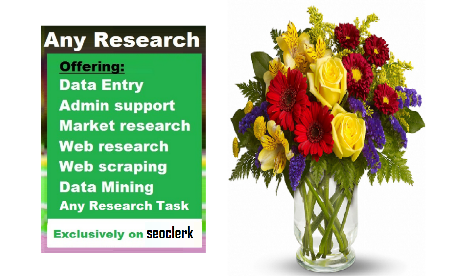 Data Research Like Contact,  Email,  Phone,  Website Etc