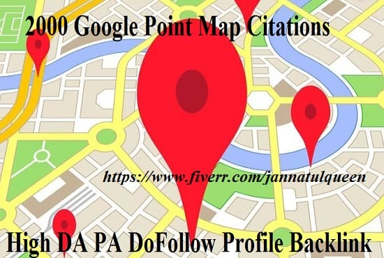 create 100 google point map citations for local SEO