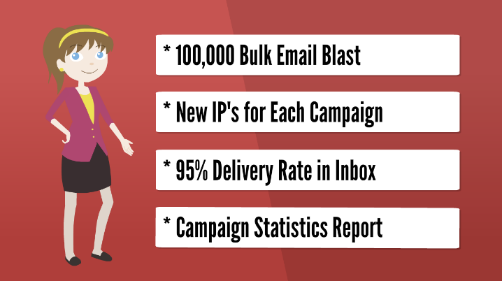 Email Blast - Send 1,000,000 bulk emails for your email campaign