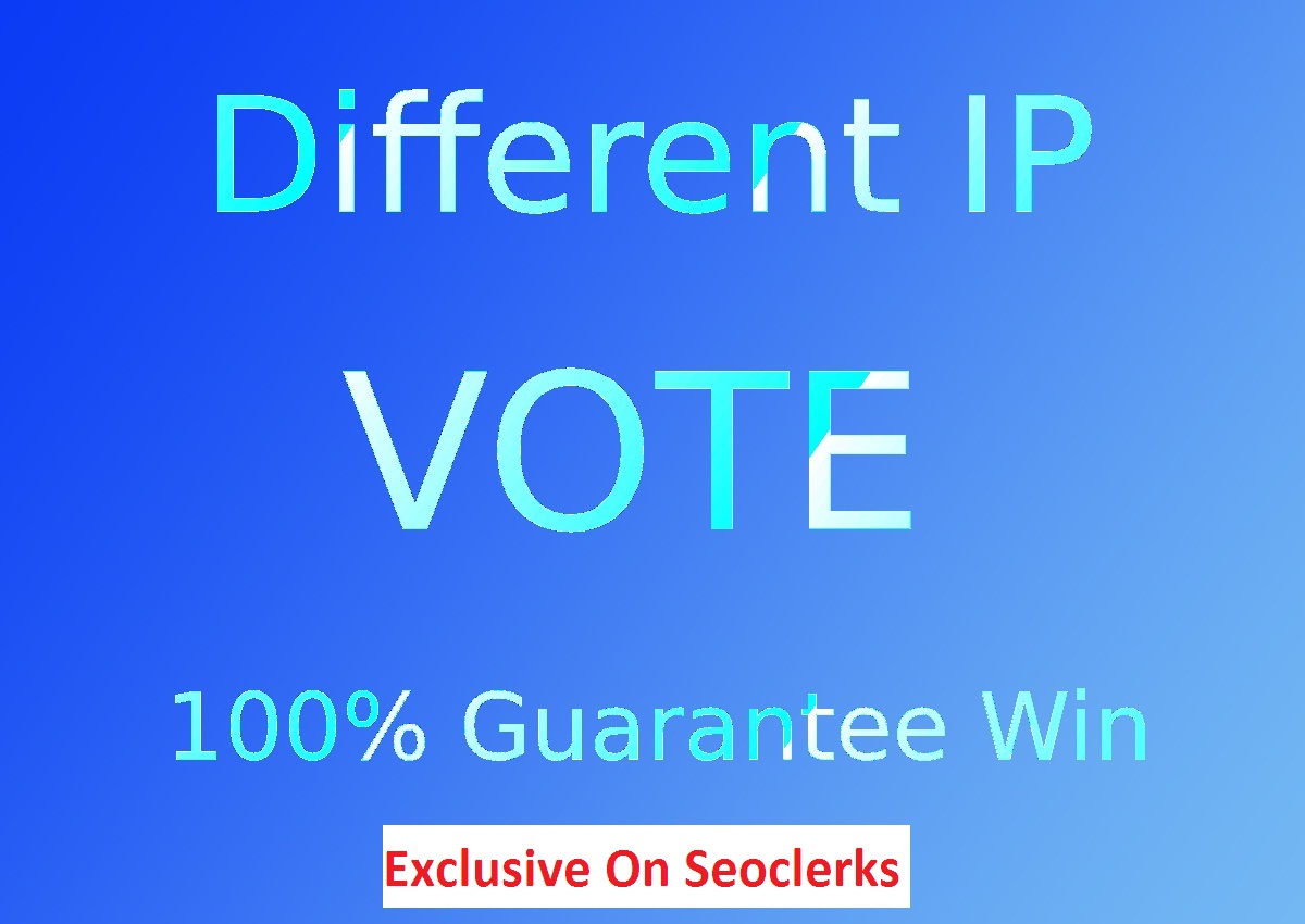 500 Guaranteed Different IP Votes In Your contest