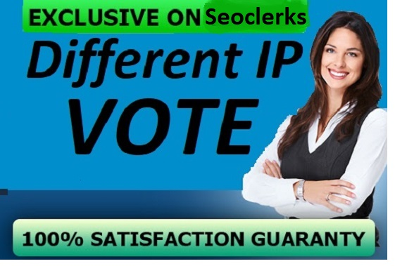 Give you250 genuine IP votes by real people to any IP contest