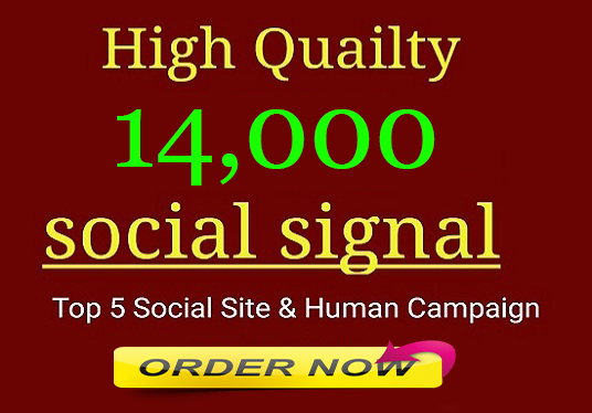 Manual 14,000 Powerful SEO Friendly Social Signals To Boost Your Website Ranking