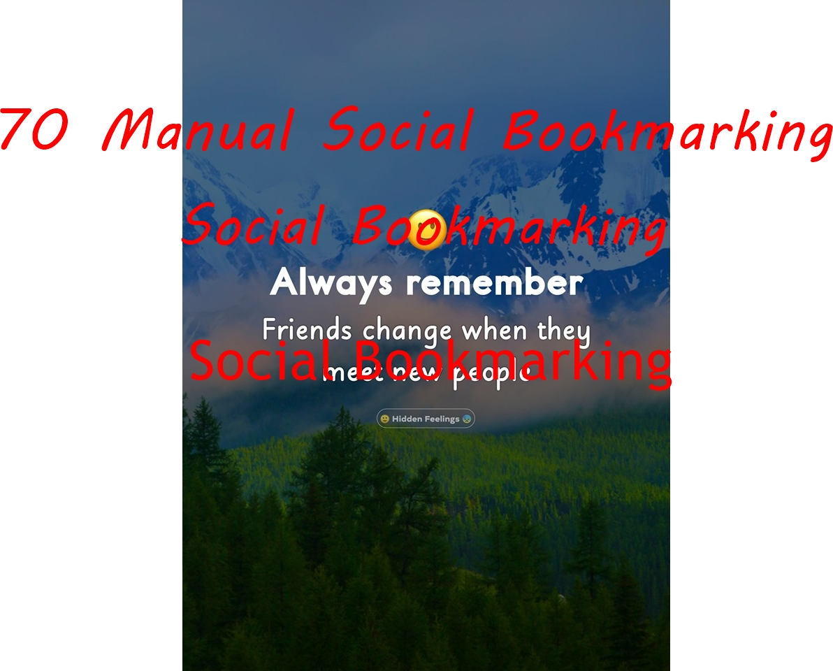 70 Manual Social Bookmarking Links