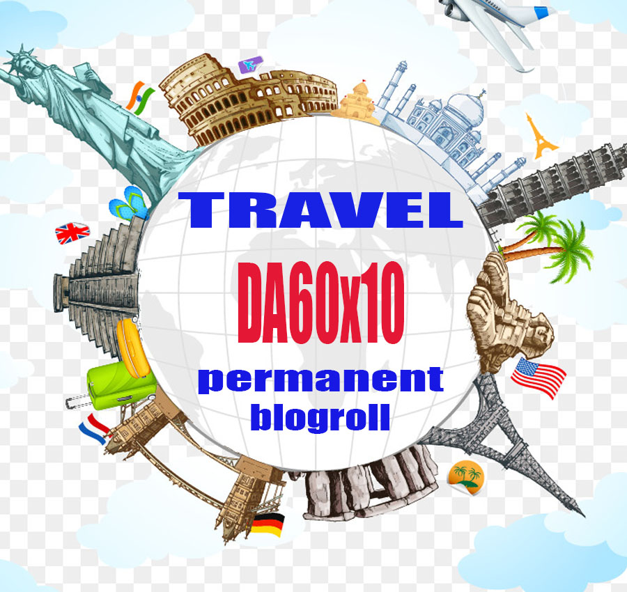 Give Link Da60x10 Travel Site Blogroll Permanent