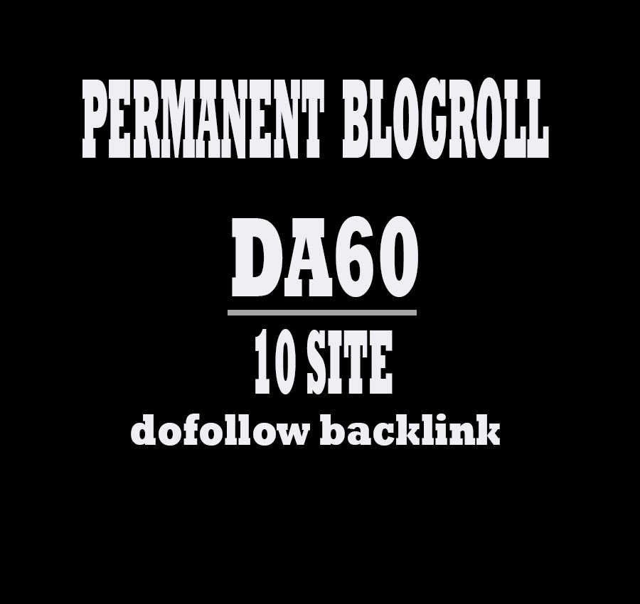 Give Link Da60x10 Site Blogroll Permanent
