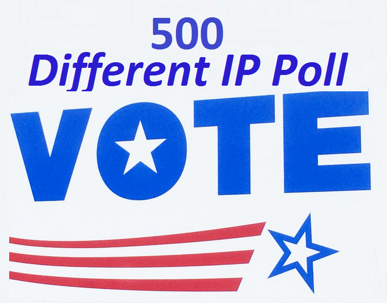 provide you get 500 genuine IP votes poll by real people