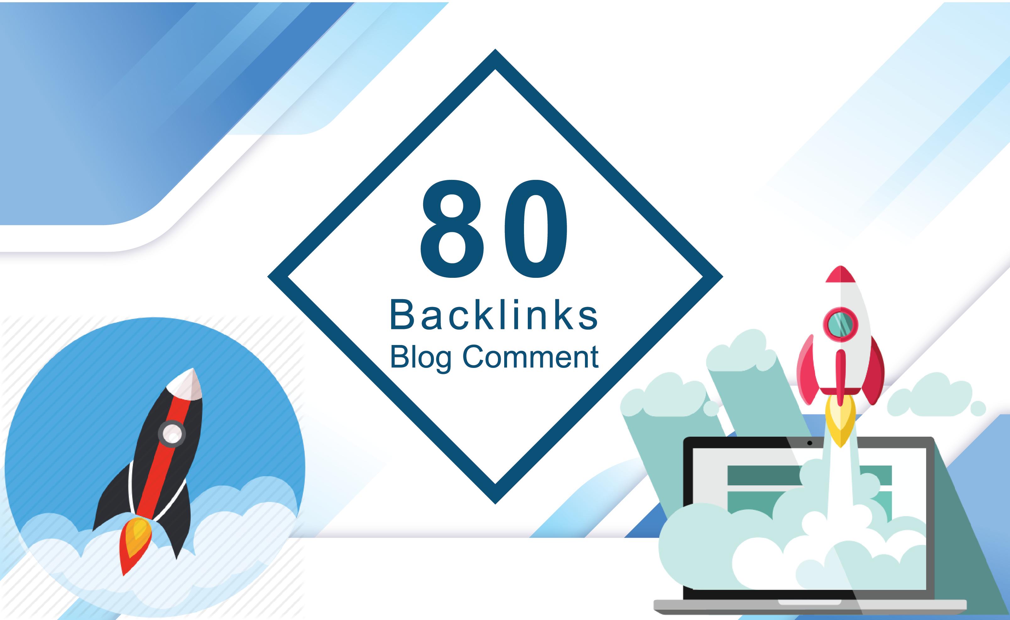 Do 80 Blog Comment Dofollow Unique Domain Off Page SEO