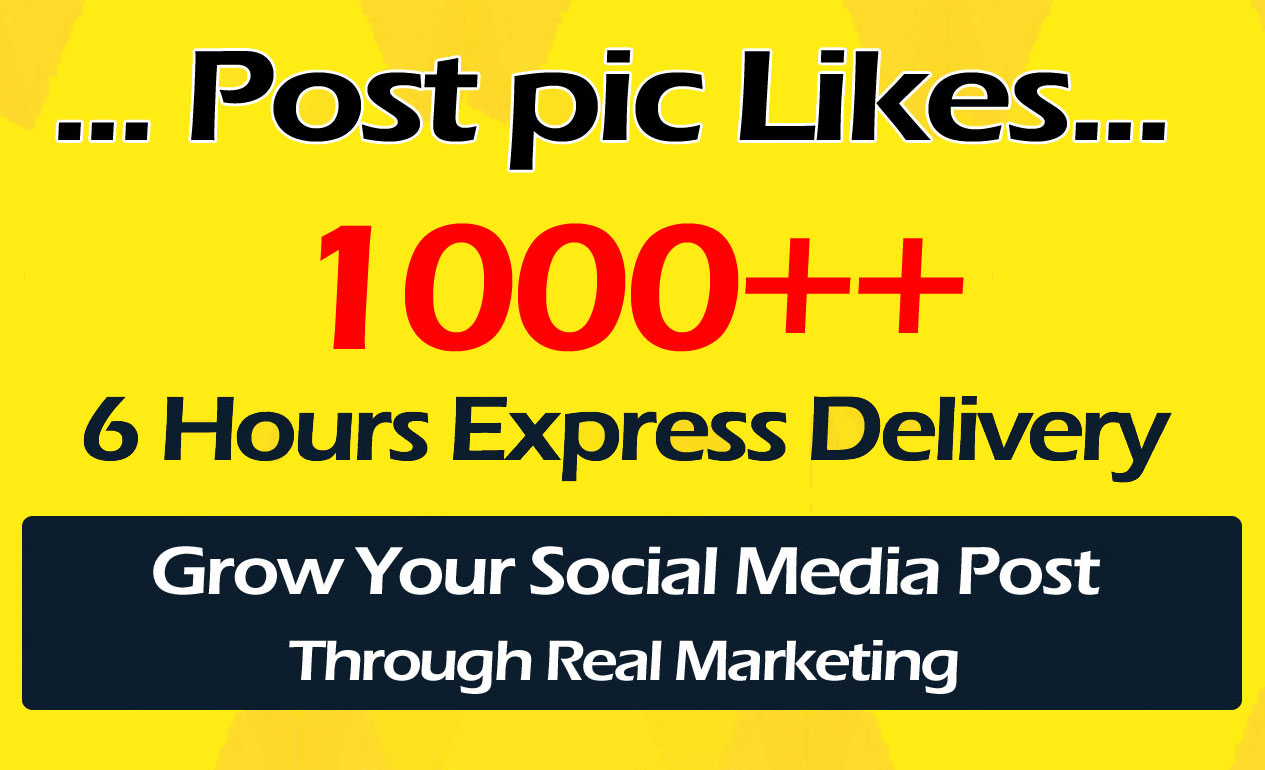 1000+ High Quality Social Pictures Post Promotion in 24 Hours
