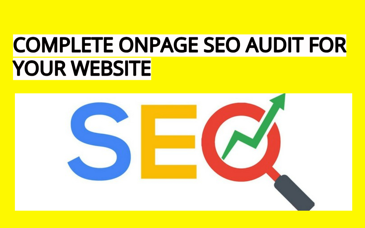Complete Onpage SEO Audit For Any Website